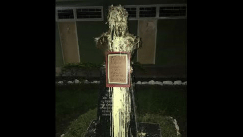 Marcus Garvey Statue Vandalized