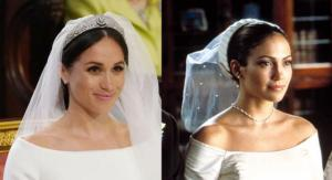 The internet is comparing Meghan Markle's wedding dress to this Jennifer Lopez movie