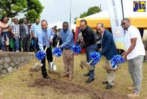 Ground Broken And Contract Signed For Dr. Kenneth Baugh Health Centre