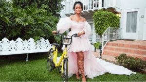 Rihanna Helps Malawi Girls Get to School by Giving Them Bicycles