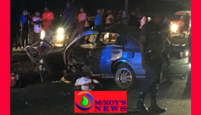 ST JAMES COP SERIOUSLY INJURED IN MOTOR VEHICLE ACCIDENT