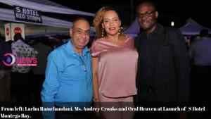 Lachu Ramchandani, Audrey Crooks and Oral Heaven at S Hotel Montego Bay