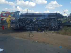 School aged children killed in minibus accident
