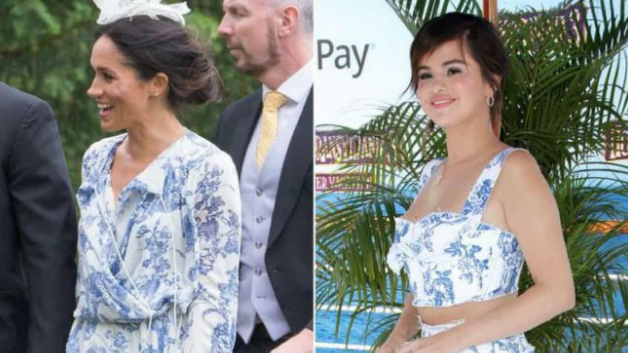 Selena Gomez Borrows from Meghan Markle's Wardrobe in the Sexy Version of Her Wedding Guest Dress