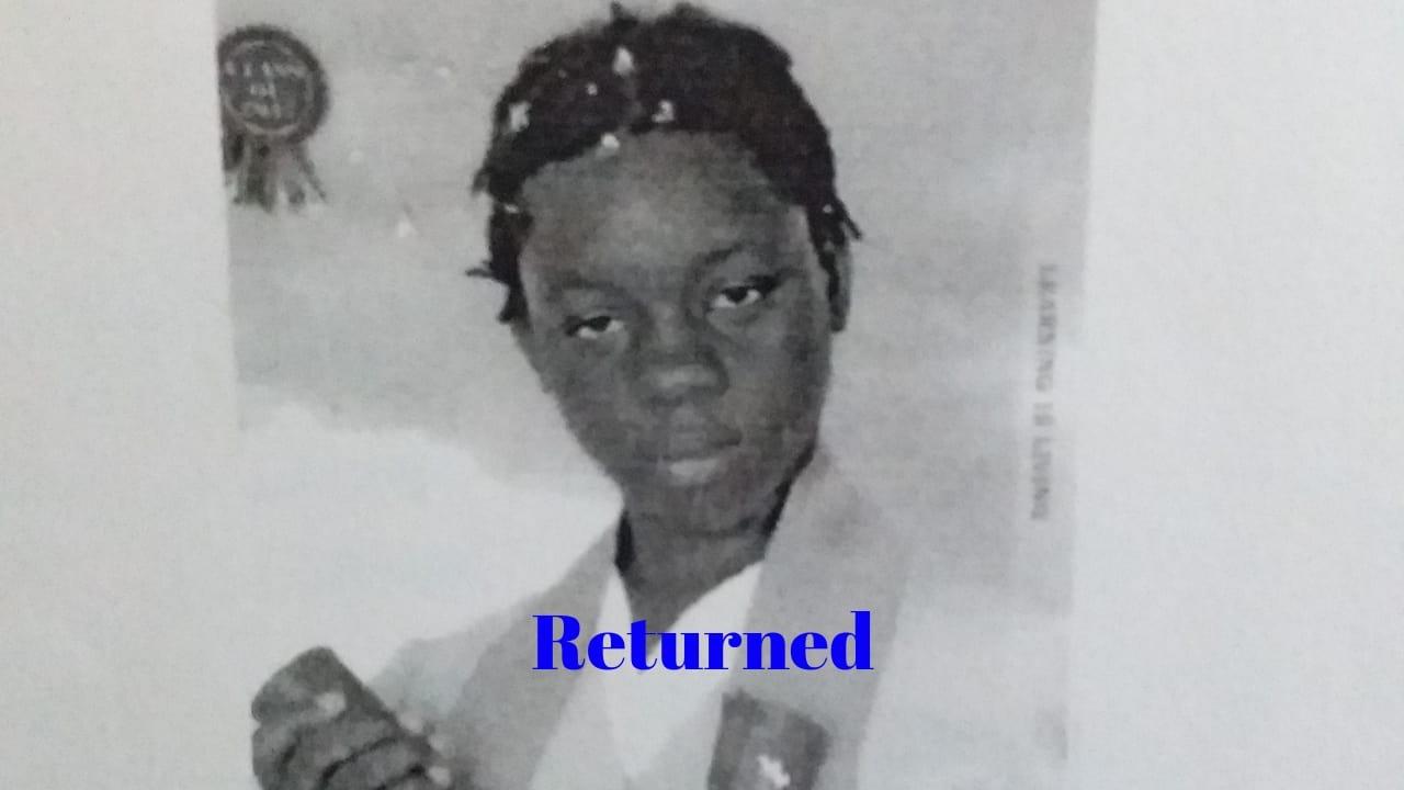 Missing Teen Shamaya Benjamin Returns