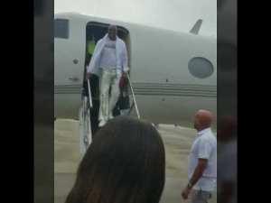 Video: Steve Harvey arrives in Montego Bay, Jamaica