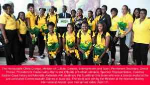Minister Grange Confident that Sunshine Girls will be Champions Soon