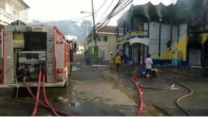 Massive Supermarket Fire in Lucea