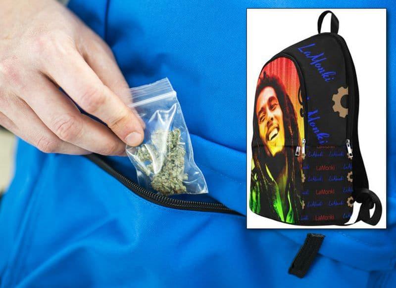 Man arrested after police find marijuana in his Bob Marley backpack