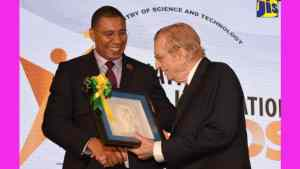 Mr. Seaga Honoured for Contribution to Science and Technology