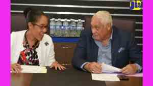 Minister Henry Tours JIS Television Dept. New Building