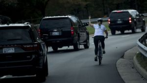 Woman fired for showing Donald Trump motorcade the middle finger