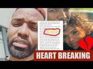 Video: Konshens Breakdown over Wife Leaving him