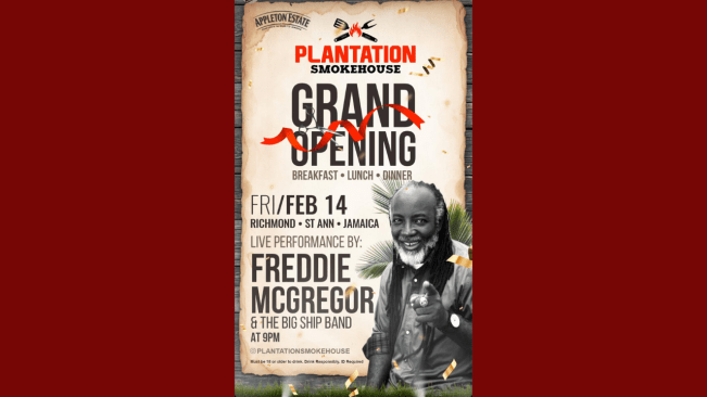Freddie McGregor & Big Ship Band for Plantation Smokehouse Grand Opening