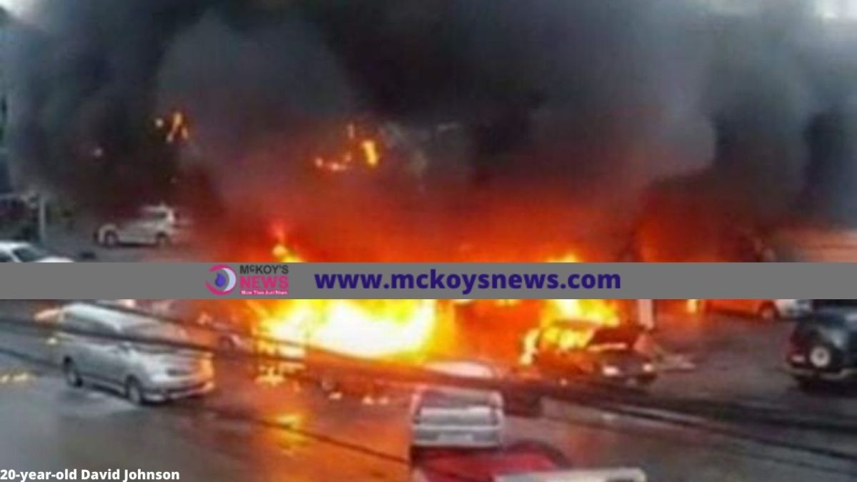 7- Persons Injured, 12-Motor Vehicle Destroyed, By Fire which Gutted Fesco Gas Station in Mandeville