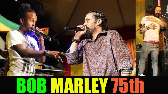 Popcaan & Junior Gong At BOB MARLEY 75th, Vybz Kartel Song Sang Too