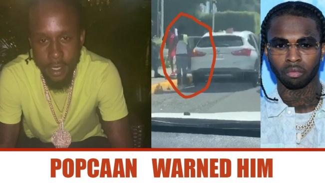 Popcaan WARNED PopSmoke | Popcaan Reacts to Police Gun