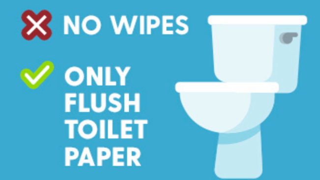 NWC Warns Against Flushing Wipes
