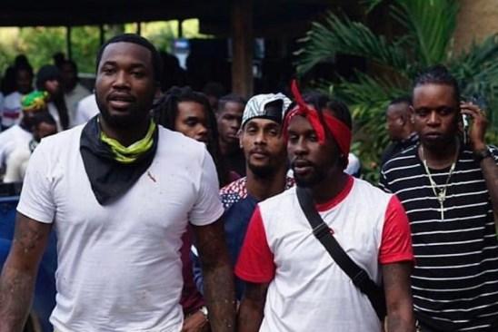 Popcaan Pops In On Meek Mill's Jamaican Vacay