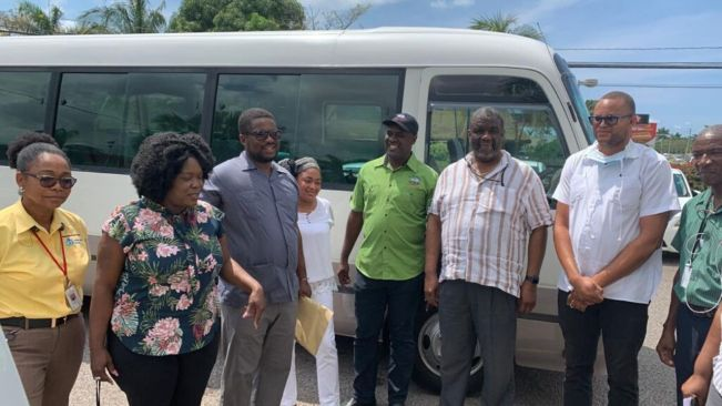 MEMBER OF PARLIAMENT FOR ST. JAMES CENTRAL HANDS OVER 2 BUSES TO CORNWALL REGIONAL HOSPITAL