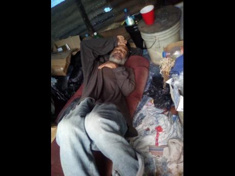 No place to call home – Elderly man lives next to hog pen