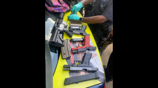 4 guns, Ammo Recovered as St James Cops Step up Fight Against Gangs