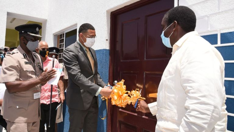 PM opens renovated Gayle Police station