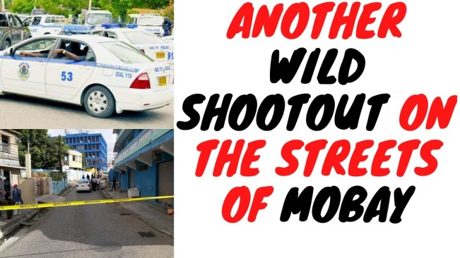 Police And Flankers Men Have Broad Daylight Gun Battle On The Streets Of Montego Bay