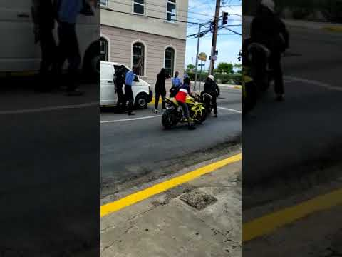 Cops say video showing motorcycle robbery is false