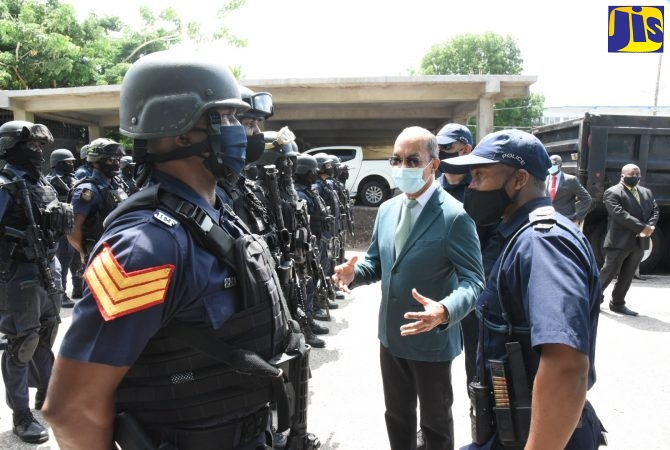 Security Minister Commits To Equipping JCF With Tools To Fight Crime