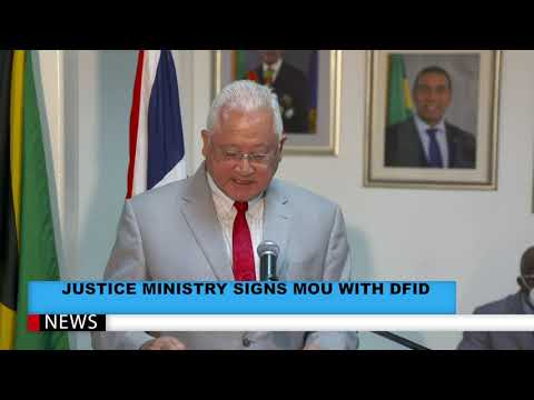 Justice Ministry Signs MOU With DFID Valued At £1 Million