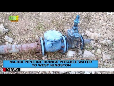 Major Pipeline Brings Potable Water To West Kingston