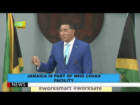 Jamaica Is Part Of WHO COVAX Facility