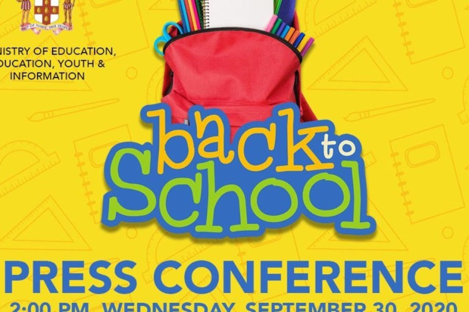 LIVE NOW :Ministry of Education Youth & Information Back to School Press Conference – September 30, 2020
