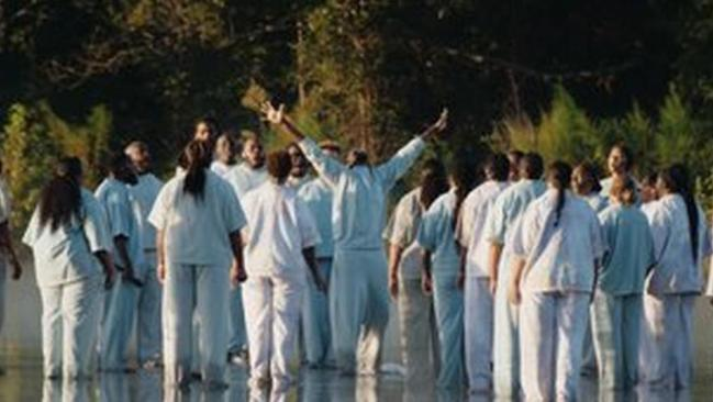 Kanye West 'walks on water' in dramatic entrance to Sunday Service