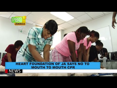 HEART Foundation Of JA Says No To Mouth To Mouth CPR