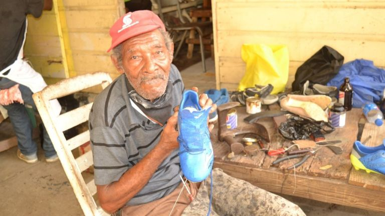 Lucea shoemakers miss the children
