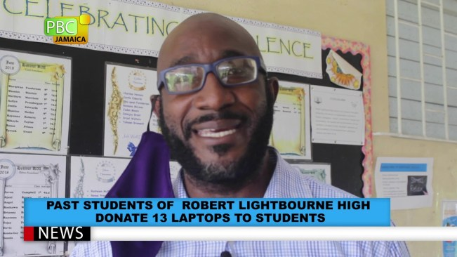 Past Student Of Robert Lightbourne High Donates 13 Laptops To Students