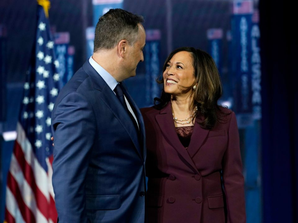 Kamala Harris will be America's first Black woman vice president, and husband Doug Emhoff the first-ever second gentleman. Here's a timeline of their relationship