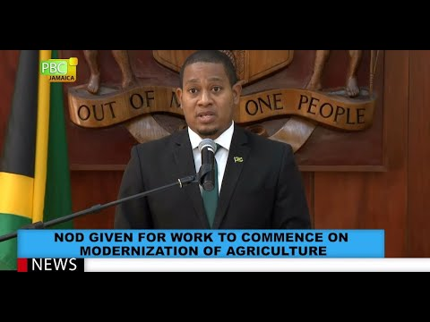 Nod Given For Work To Commence On Modernisation Of Agriculture