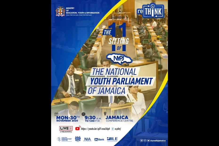 The 11th Sitting of The National Youth Parliament of Jamaica – November 30, 2020