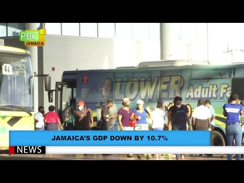 Jamaica's GDP Down By 10.7%