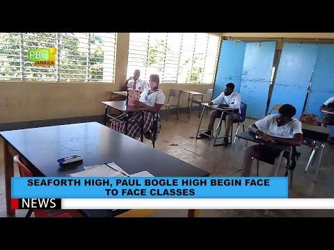 Seaforth High, Paul Bogle High Begin Face To Face Classes