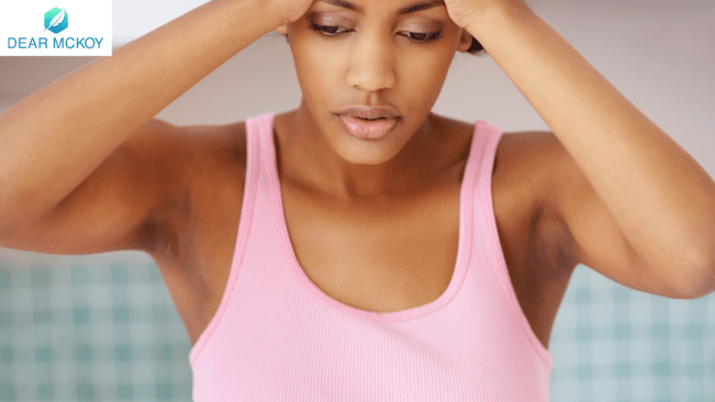 Dear McKoy: Concerned about the heavy discharge I have been having lately