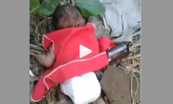 Crying Baby Found In Bushes – Video