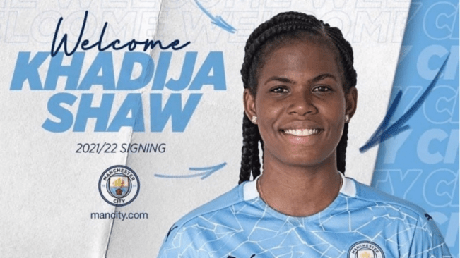 Khadija 'Bunny' Shaw signs Manchester City on a three-year contract