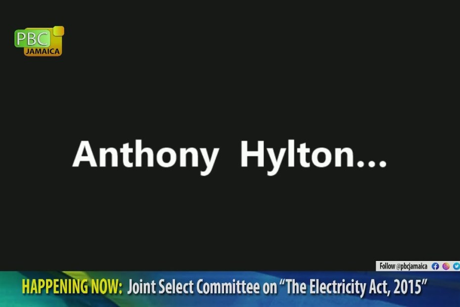 """LIVE NOW: The Joint Select Committee on the """"Electricity Act, 2015"""" 