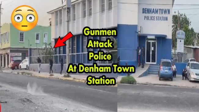 Police and Gunmen big Shootout at Denham Town Station Broad Daylight Today