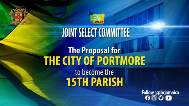 Joint Select Committee on the proposal for Portmore to become the 15th Parish – July 29, 2021