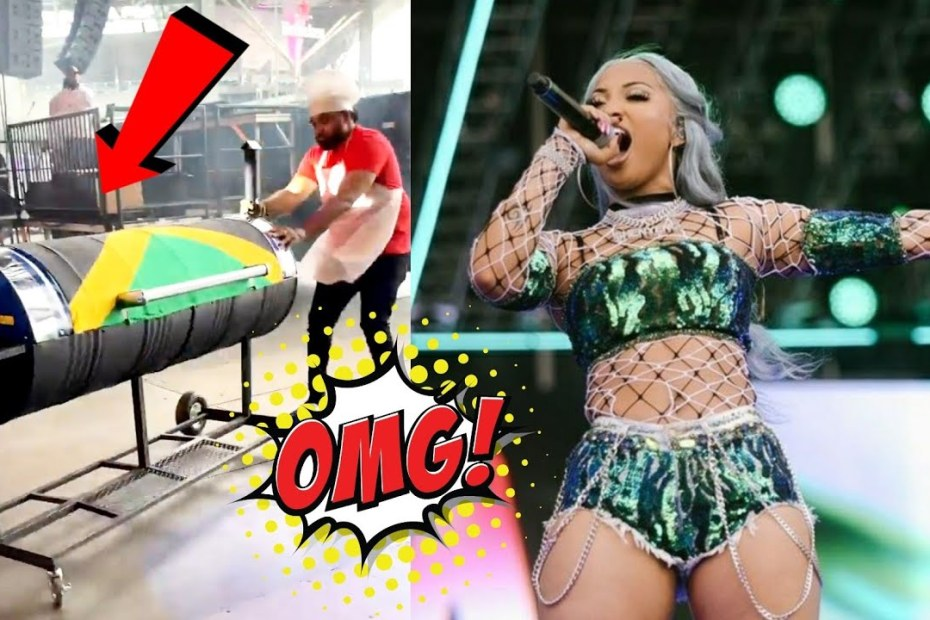 Romeich Carried Shenseea In A Jerk Pan On Stage| Shenseea Full Performance at Rolling Loud 2021